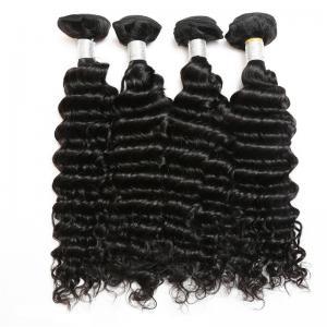 China Virgin Peruvian Deep Wave Human Hair / Peruvian Hair Body Wave Bundles on sale