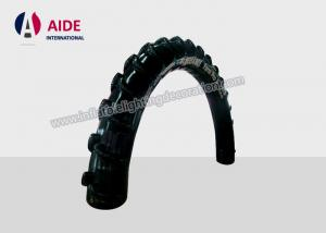 China Inflatable Archway Finish Line Black Tire Shape For Car Shop Advertising Promotion on sale