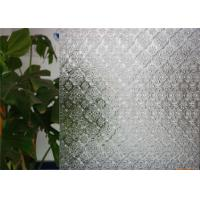 China Clear Decorative Patterned Glass 3mm 4mm 5mm 6mm Thickness Flora Embossed Glass on sale