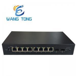 China Network Fiber Optic POE Switch 8GE Lan +2GX SFP Gigabit Ethernet Web SNMP Management on sale