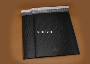 China No Fading Shipping Poly Bubble Mailers , Flat Black Garment Mailing Bubble Bags on sale