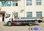 Grúa profesional del camión de auxilio de la cama plana para el retiro del bloque de camino