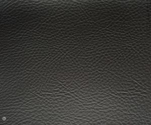 Matte Finish Black Faux Leather Upholstery Material With Smooth