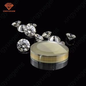 China High purity vvs clear white moissanite rough raw material 1 carat moissanite diamond rough uncut unpolish on sale