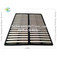 Convenient Folding Metal Bed Frame With Wooden Slats Single / Double Size