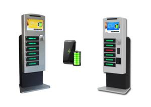 China Winnsen Multi Languages Cell Phone Charging Stations With 6 Digital Lockers on sale