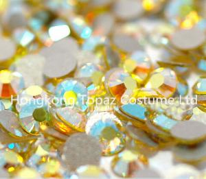 China non hot fix crystal strass stone for crafts/shoes/necklace Citrine ab color on sale