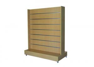 Quality Retail Store Practical Slatwall Display Stand Space Saving Simple Style Eco - for sale