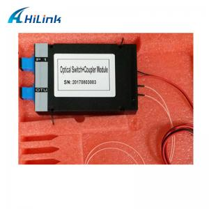 China Fiber PON COUPLER Mechanical Optical Switch With ABS Box Module on sale