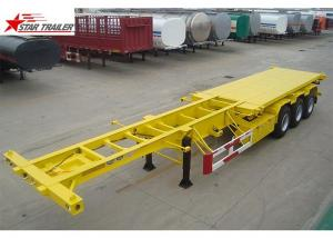 China 3 Axles 40T Sliding Skeletal Trailer Chassis With Heavy Duty Capacity supplier