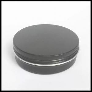 China Black Cosmetic Aluminum Jar 100g Lotion Cream Bottles With Screw Lids on sale