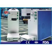 China Rubber Parts Advanced Laser Source Fiber Laser Marking Machine Fast Speed on sale