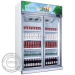 OP-A405 Fan Cooling Automatic Defrost Supermarket Glass Door Fridge