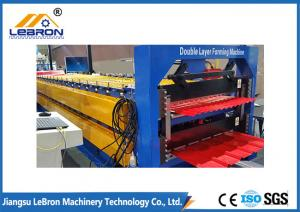 China Low Noise Double Deck Roll Forming Machine 8-12m/Min For Standard Solution on sale