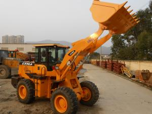 China 2200r / Min Mini Front End Loader , 3 Ton Wheel Loader 1290mm Dumping Reach on sale