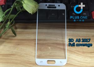 China AGC Tempered Glass 3D Curved Screen Protector For Samsung A3 2017 White Color on sale