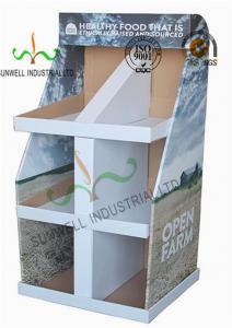 China Food Presentation Cardboard Display Stands , Cardboard Product Display Stands on sale