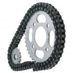 piñón y cadena de la motocicleta