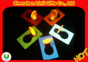 China Credit card shape LED flashing toys HLT1102026 party bulb flashing card light on sale