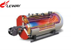 China 0.7MW Rated Oil Fired Hot Water Boiler , Oil Hot Water Heater Atmospheric Pressure on sale