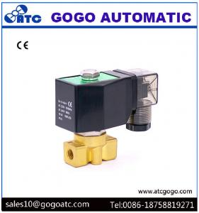 China Copper Water Electric Solenoid Valve , G1/4 24VDC Low Pressure Solenoid Valve on sale
