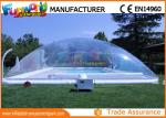 China PVC Transparent Inflatable Pool Cover Tent , Swimming Pool Cover Shelter wholesale