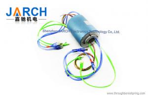 China 500Rpm 2 USB Signal Ethernet Through Bore Slip Ring Size 30mm  2 Channel 1000M on sale