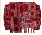 8  layers FT4 material 1.6mm Board thickness mmersion Gold Red SM-2 PCB and PCB assembly