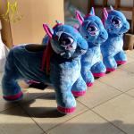 Hansel  birthday party kids outdoor games steel frame unicorn motorized plush animal