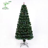 China Wholesale Premium Unique Fiber Optic Decoration Mini Led Christmas Tree with diamond ornament on sale