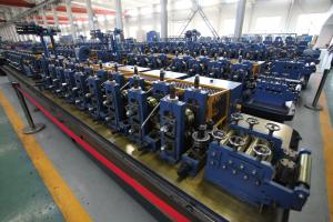 China SS Pipe Making Machine , Tube Forming Machine Flying Saw Profile on sale