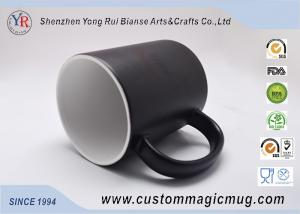 China Black Creative Heat Reactive Coffee Mug Changing Color With Heat on sale