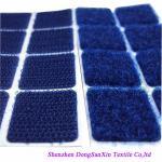 Type carré crochet et feuilles de tissu de boucle, protections collantes de Velcro bleu Garde