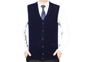 China Mens 100% Pure Cashmere Sweaters Casual Value Sweater Vest ODM / OEM Accepted on sale