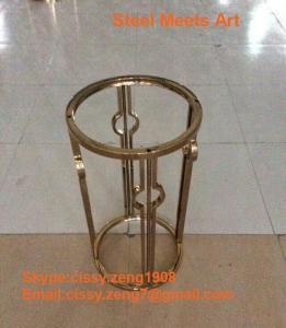 Quality stainless steel product oem stainless steel artwork champagne frame for sale