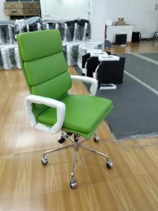 China Green Color Aluminum Group Executive Chair Fit Waist Curve Concave And Convex Design on sale