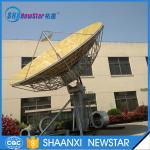 9.0m big size 2-axis or 3-axis motorized ku band earth station satellite communication antenna