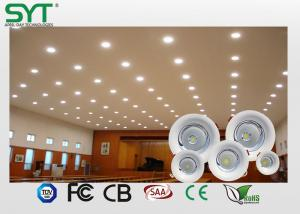 China High Power Compact Round Led Downlight Spotlight 50000 Leds Hours Life on sale