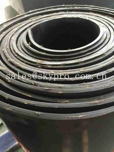 China High Density Rubber Sheet Roll With Cotton Insertion / Smooth Rubber Foam Sheet on sale
