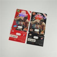 Premier ZEN Blister Pack Packaging Metallic Silver Paper Card For Male Enhancer Capsule