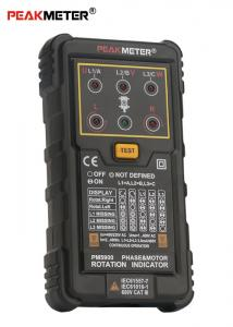 China High Voltage Motor Phase Rotation Tester 3 Phase Rotation Indicator High Safety Standard on sale