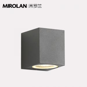 China MIROLAN Grey Square Wall Sconce Light Up and Down Modern Simplicity Style Aluminum Housing on sale