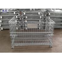 Steel Wire Mesh Pallet Cages Storage Box 5.8mm / 6.0mm Wire Diameter