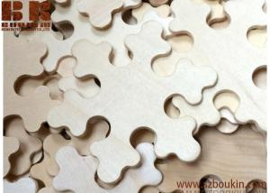 China 10 Wood Snowflakes - Unfinished Wooden Craft Supplies wooden christmas craft on sale