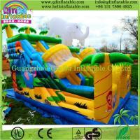 Outdoor splash inflatable water slides for kids/inflatable slide for pool/plastic slide