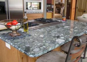 Luxury Glossy Custom Granite Countertops Table Stone Kitchen