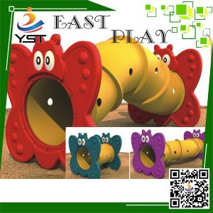 China Happy Plastic Indoor Soft Play Area Train Tunnel For Children Amusement on sale