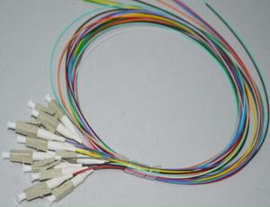 China 12 color fiber optic pigtails LC/ST/SC/FC 900um,SM/MM G652D or G657A fiber on sale