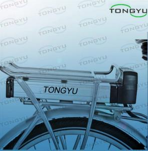China Light Weight Electric Bike Lithium Battery 36V 9Ah / 10Ah With Rear Luggage Carrier Rack Case on sale