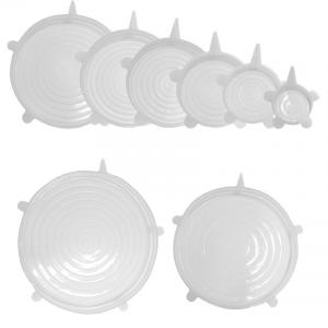 China FDA Certificated BPA Free Silicone Stretch Lids 6 Pack 7 Pack 8 Pack on sale